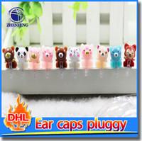 Wholesale Universal Earphone Jack Plug For Any mm Phone Ear Cap Cell Phone Pluggy Cartoon Phone Dust Plug