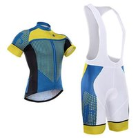 Wholesale 2015 Newest Hincapie Mens Bike Jersey Sets Bike Jerseys Team Short Sleeves and Bike Shorts with Bibs Blue Yellow Color Sports Cycling Suit