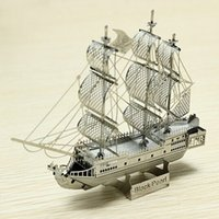 Cheap hot sale Pirate ship 3 d puzzle assembling toys the best gift for children