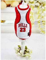 basketball sweater vest - The dog dog clothes mesh vest Pet clothing supplies The dog basketball clothes quick delivery