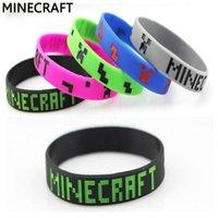 Wholesale Minecraft Creeper wrist band silicone bracelet My world Jelly Glow boys girls fashion wristband bracelets colors available