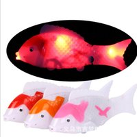 Wholesale Electric toys toys fish stall double light music electric fish fish fish simulation of free land