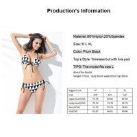 Nylon bra nylon spandex - 2015 Newest Summer Sexy Bandage Bikini Halter Triangle Swimsuit Push up padded Bra High Quality Bikini set Made By Nylon and Spandex