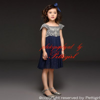 american dress shops - Pettigirl Retail Summer Soft Tulle Girl Dress With Embroidery Top Big Teenage Girl Princess Dress For Kids Clothing Drop Shopping GD50611