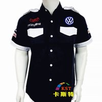 beauty overalls - NEW Brand F1 Race Motorcycles Auto Beauty Overalls Summer Embroidery Cotton Moto Karting Motorcycle Jacket For Volkswagen