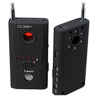 Wholesale great CC308 Wireless Anti spy Full frequency Detector Almighty for Spy Camera Spy Bug Phone Anti Spy Signal Bug RF Detector Hidden Camera