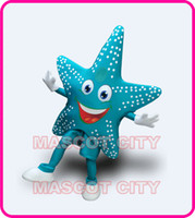 Wholesale Professional Anime cosply Costumes Blue Sea Star Starfish Mascot Costume Adult Cartoon Star Theme Carnival Mascotte Fancy Dress