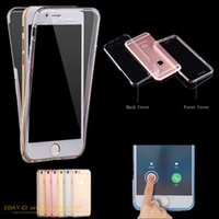 Wholesale For iPhone Plus S Case Shockproof Hybrid Full Protection Soft TPU Clear Ultra thin Cases Cover DHL Free