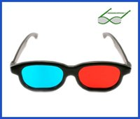 Wholesale Red cyan d glasses and red blue plastic d glasses