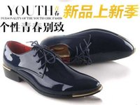 Wholesale Brand New fashion Genuine leather Men dress shoes Male Business oxford shoes top quality original brand men Wedding shoes