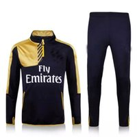 track suit - 2016 soccer Arsenal jersey home red away golden Football Soccer Kit Uniform jerseys Tracksuit survetement football Track suit Home Red