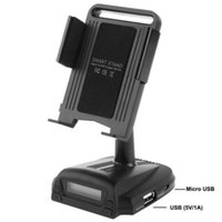 Wholesale Smart Stand Holder With Charge In Car Handsfree FM Transmitter for iPod iPhone