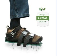 aerating spikes - New Upgrade x13cm Gardening Lawn Aerating Sandals With Spikes Zinc alloy buckle