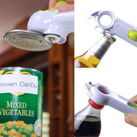 Wholesale 7 in Powerful MultiFunction Kitchen Cando Opener Open Cans Lifts Tabs Pries Tins Bottles Breaks Jar Seals Accessories DHL Free