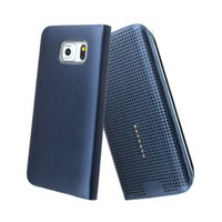 app galaxy - 2015 Smart dot view case smart view APP case for samsung galaxy S6 Edge screen film wake up sleep case