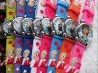 Wholesale frozen Silicone watch wristwatch cartoon children kids girls student Quartz watches cute D cartoon lovely christmas gift new arrive