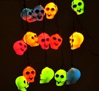 halloween skeleton - Halloween Light LED Home Bar Party Decoration Pumpkin Colorful LED String Light Fairy lights Festival Lamp Skeleton lantern lamp