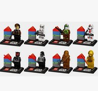 Wholesale 5 cm JR Star Wars The Force Awakens Mini Figure Moive Super Hero Kid Baby Toy Building Blocks Sets Model Toys Minifigures YH032