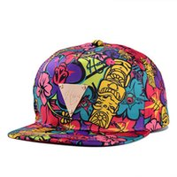 Cheap Wholesale 100pcs per lot Hater Collection Snapback hater floral print snapback fashion cap hip hop street style women Free Shipping