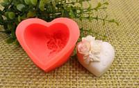 Silicone della Rosa di modo 3D fiore Torta stampo cuore forma caramelle al cioccolato Stampi Sapone Ice rosa tortiera per il regalo di San Valentino