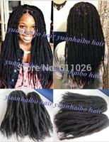 Wholesale Stock factory cheap price in b afro kinky marley twist hair synthetic braiding for black women