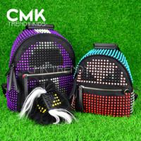 Wholesale CMK KB132 NEW ARRIVAL Sizes Rivets Karlito Designer Backpack Fashion Monster Backpacks Boys Devil School Bags Girls Shoulder Bag