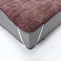 Wholesale Plush Mattress Cover Foldable Very Soft And Warm Bed Bedding Sheet With Feet Care Mattress Pad Japanese Bed