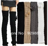 ankle sprain shoes - fashion female winter wool yarn loose knee leg warmers socks shoes ankle sprained his leg boots socks