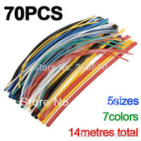 Wholesale 70pcs Sizes Colors Assortment Polyolefin H type Heat Shrink Tubing Tube Sleeving Wrap Wire Cable Kit A5