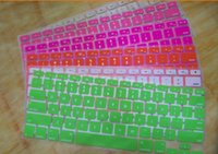 Wholesale Colorful Rainbow Silicone Keyboard Protector Cover Skin Crystal For MacBook Pro Air Retina inch Waterproof Dustproof US Version Sample