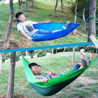 Wholesale Outdoor Thickening Nylon Camping Hammock Simple Summer Portable Hammocks Plus Size MA0108 salebags
