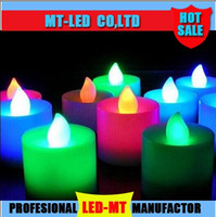 Wholesale hot Christmas light Gifts LED Submersible Candle Light Waterproof Tea Lights Wedding Party Tea Light Home Decoration led candle lamp lights