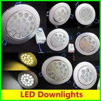 Wholesale Cree LED Downlight Ceiling W W W W W W W Recessed LED light Downlights LED down Lights Lamps Warm White V