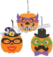 foam pumpkins - 27PCS DIY foam pumpkin character ornament craft kit Halloween toys Halloween crafts Early educational toy Halloween gifts