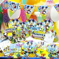 Wholesale Party Decoration SET Mickey Cartoon Birthday Party Supplies Banquet Theme Sets K503