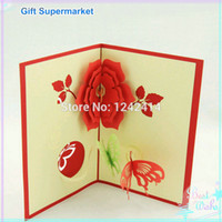 Wholesale Handmade Flowers with Butterfly Greeting Cards mm D Pop Up Gift Invitation Cards for Birthday