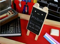 Wholesale New Cute Wooden Bear Mini Blackboard Stand Message Board Set Chalkboard Party Wedding Decoration YH0128