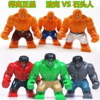 Wholesale New Toys Big Hulk PK Stone Man Super Hero Building Blocks The Avengers Toys Classic DIY Bricks Minifigures Educational Children s gift