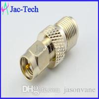 Wholesale 100Pcs adapter F female jack to SMA male plug RF coax connector