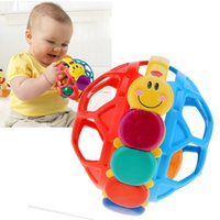 Wholesale 2015 Brand New Baby Toy Multicolor Plastics Soft Bendy Toy Ring Ball Children Kids Handbell Early Educational Toys
