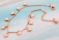barefoot fine jewelry - 2015 Fine Jewelry Foot Chain Barefoot Sandals Rose Heart Jingle Bell Lady Anklet Bracelet Ankle