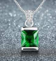 jade necklace - 2015 Emerald crystal necklace sterling silver pendants accessories