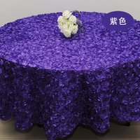 Wholesale Top Quality Royal Blue D Rose Table Cloth Wedding Banquet Party Round Overlays Round Tablecloths Wedding Decoration Supplier Colors