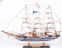 Wholesale METTLE CM wooden sailboat number Vespucci Italian boat business gift boutique gift boxes MT65