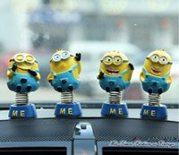 automobile springs - Despicable Me Interior Accessories for Car Cute Minion Resin Decoration Spring Furnishing Craft Ornaments Pack Sold Automobiles Decoration