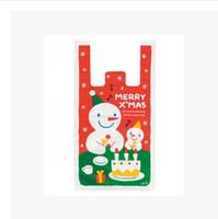 Wholesale pecial Purpose Bags Shopping Bags Christmas Snowman Pattern Environmental Portable Folding Shopping Bag Gifts Tote Bag Waistcoa