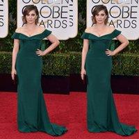 apple bloom - Golden Globes Prom Dresses Rachel Bloom Off Shoulder Mermaid Evening Dress New Arrival Spring Plus Size Taffata Party Gowns