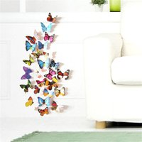 wall tile - 12pcs Colorful Design d Butterfly Wall Sticker Decor Butterflies Art Wall Art Home Decor
