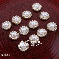 Wholesale Newborn Mini Shiny Decorative Metal Rhinestone Buttons For Craft Cheap Flatback Pearl Buttons For Flower Centre MM Colors ZK484