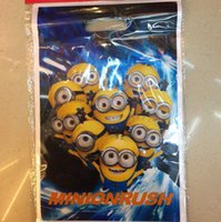 baking plastic wrap - New Christmas gift cartoon bags Minions frozen Elsa Anna pig loot bags box plastic shopping souvenir bag packing package party decoration